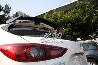 Apto para MAZDA AXELA hatchback AUTOEXE fibra de carbono spoiler traseiro asa traseira