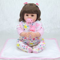 NPK 42cm cotton body lifelike newborn Baby girl with lovely baby clothes limited Collection toys Silicone Reborn Baby dolls