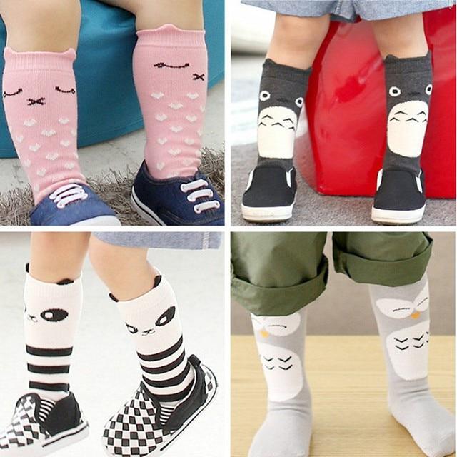 Новорожденный Малыш колено, носок Мальчик bebe Девушка фокс хлопчатобумажные носки Милый Мультфильм Животных Кошка гетры Для новорожденных инфантильный