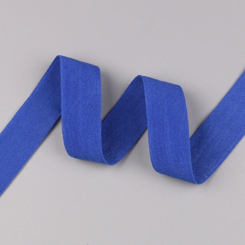 5 ярдов/Лот 20 мм ширина 34 цвета эластичная лента использование для diy аксессуары и одежда галстук лента для волос - Цвет: 20