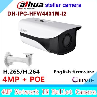 Dahua Stellar DH-IPC-HFW4431M-I2 replace IPC-HFW4431D&IP-HFW4421D 4MP bullet IP POE IR CCTV camera IPC-HFW4431M-I2 with bracket видеокамера ip dahua dh ipc hdbw2220rp zs 2 7 12мм 1 2 8 1984x1225