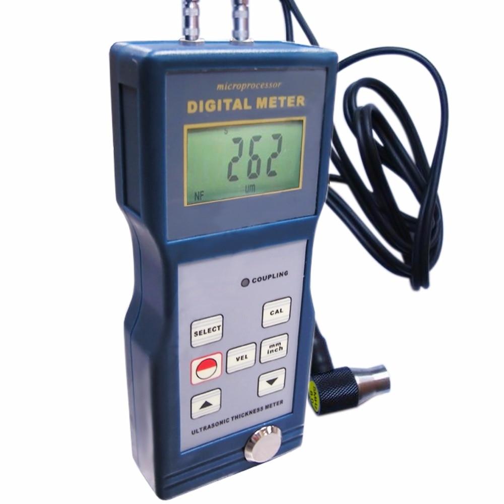 Digital Ultrasonic Glass Thickness Meter Gauge 1.5~200mm Steel Cast iron Aluminum Red copper Brass Zinc Quartz glass Tester