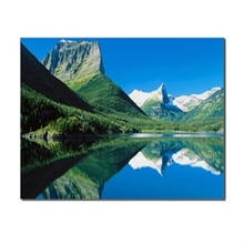 Blue Sky Cloud Green Mountain Water Landscape Paint Abstract Modern Wall Art Canvas Painting For Home Decoration