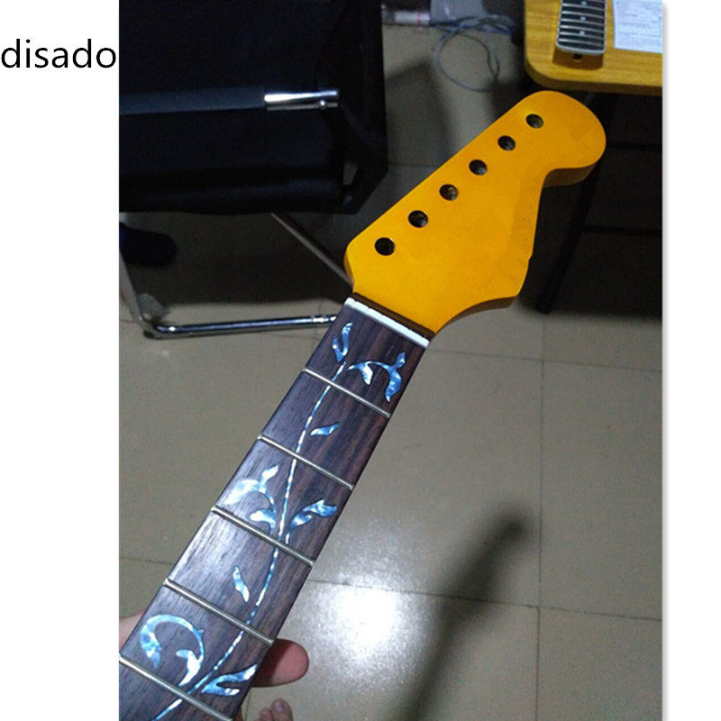 disado 21 22 24 Frets maple Electric Guitar Neck rosewood fretboard inlay blue tree of lifes guitar parts accessories
