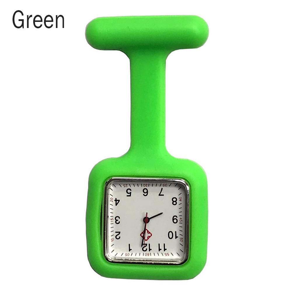 Silicone Nurse Square Watch Pocket Brooch Clip Medical Nurse Pocket Nursing Watch LXH
