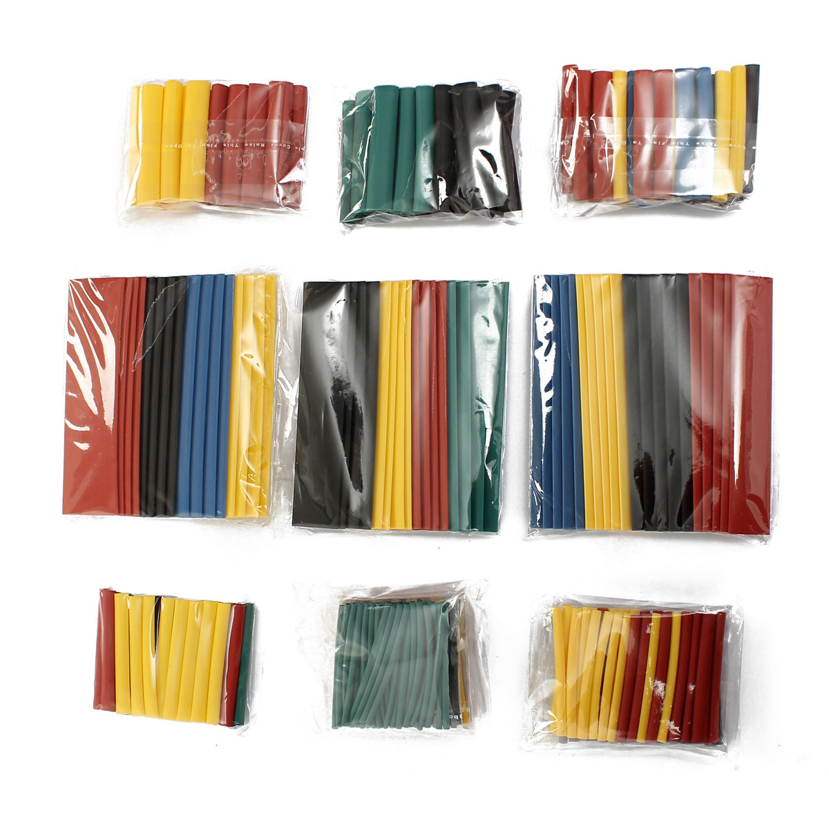 656Pcs 8 Sizes Multi Color Polyolefin 2:1 Halogen-Free Heat Shrink Tube Assortment Sleeving Wrap Wire Kit Tubes New Wholesale