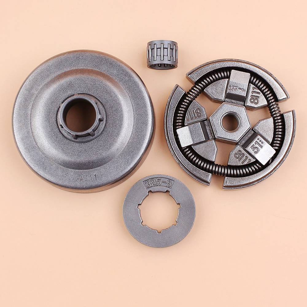".325"" Pitch 8 Tooth Clutch Drum Sprocket Rim Bearing Kit For HUSQVARNA 55 51 50 154 254 Chainsaw Replacement Parts"