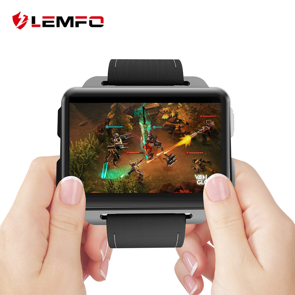 LEMFO LEM4 Pro Android Smart Watch Phone Support GPS SIM Card MP4 Bluetooth WIFI Smartwatch Supper Big Screen Battery 1GB +16GB lemfo les1 android 5 1 os smart watch phone mtk6580 1gb 16gb smartwatch support 3g wifi gps sim card with 2 0 mp camera