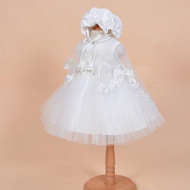 3 Pz set Bambina Battesimo Abiti Neonato Vestiti Dalla Ragazza Infantile  Principessa Delle Ragazze Partito 24159e69888