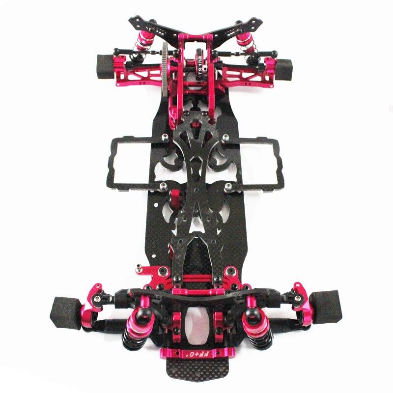 1:10 SAKURA D4 AWD EP Drift Racing Car Frame Body Kit  Alloy Carbon Two Drive