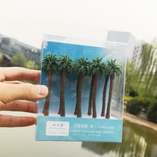90mm 1:87 HO scale A pack of 10 Pcs Model Palm Tree landscape model train railway layout scenery DIY  miniature dioramas display 1 87 ho train model 40 feet container oceangoing ship freighter boat accessories scale model parts