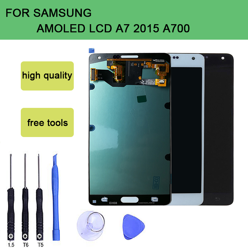 szHAIyu Tested  OLED AMOLED LCD Display  A7 2015 A700 A700F A700H A700K + Touch Screen For Samsung Galaxy  LCD Display With ToolszHAIyu Tested  OLED AMOLED LCD Display  A7 2015 A700 A700F A700H A700K + Touch Screen For Samsung Galaxy  LCD Display With Tool