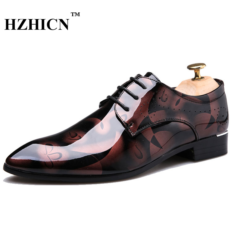 Patent Leather Shoes Men Flats Casual Oxford Shoes For Men Loafers Lace Up Mens Dress Shoes Sapato Masculino Zapatillas Hombre leather casual shoes zapatillas hombre casual sapatos business shoes oxford flats hand made man shoe free shipping sv comfort