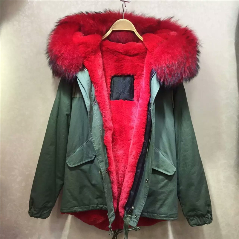 Green Parka Red Fur