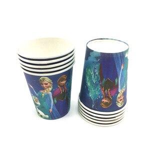 Image 3 - Décoration de fête danniversaire pour enfants, assiettes, gobelets sur le thème des neiges Disney, 83 pièces, fournitures et cadeaux pour 10 personnes