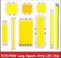1pcs New High Power 5w 6w 10w 15w 20w 40w 50w COB LED Warm White 3000k White Square Strip Light Lamp Bulb Chip 9 12 15 24 30 36V
