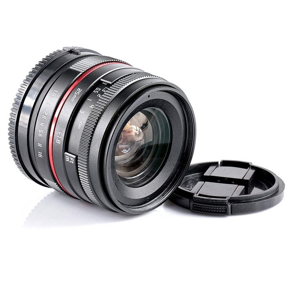 25mm F1 8 Manual Wide Angle Lens for Olympus Panasonic M43 EP3 OMD EM5 Mark II