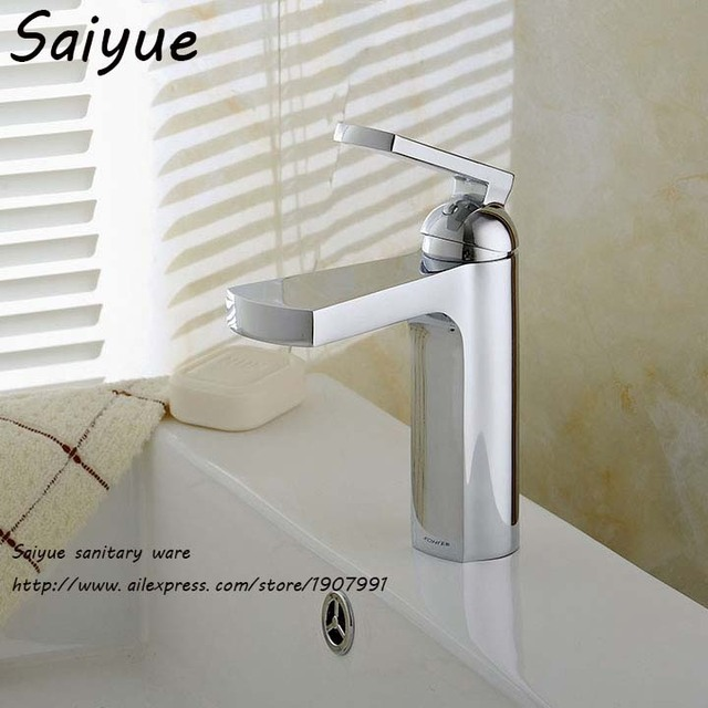 New High Quality Delicate Single Handle One Hole Chrome Waterfall Bathroom Vanity Sink Faucet Mixer Taps