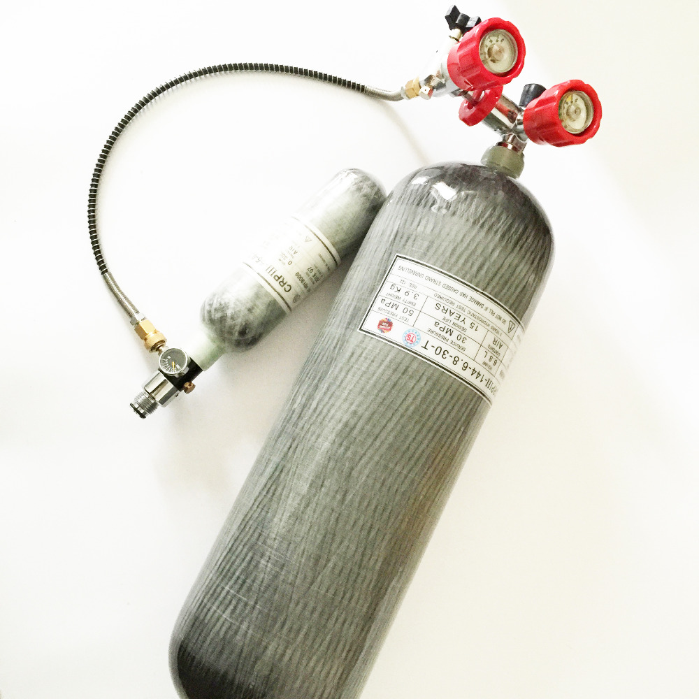 9L CE carbon fiber cylinder 4500PSI 30Mpa high pressure hot sale SCBA tank with valve and