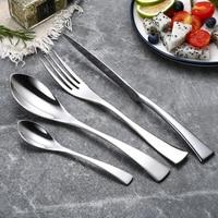 Wholesale 24Pcs/set Stainless Steel Cutlery Set Tableware Silverware Set Western Food  Fork Knife Dinnerware Set Drop Shipping