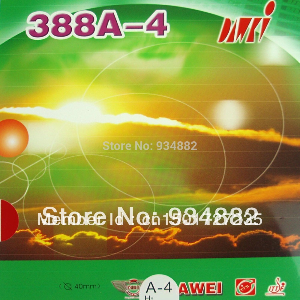 Dawei 388A-4 Pips-In Table Tennis (PingPong) Rubber With Sponge