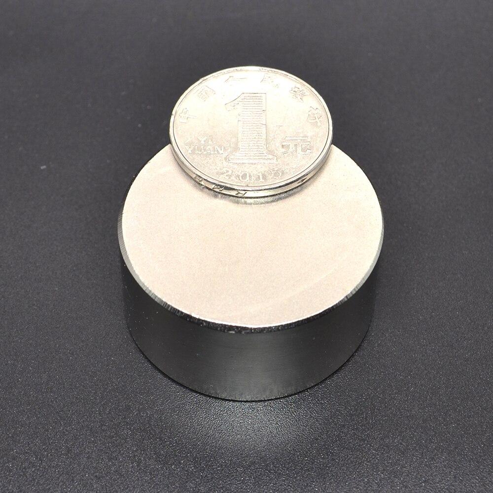1 pieza imán para calor 40x20mm N52 imanes redondos fuertes potente imán de neodimio 40x20mm metal magnético 40*20mm