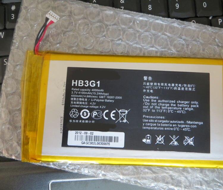 Bateria hb3g1/hb3g1h/hb4269b6eaw 4000 mah para huawei mediapad 7 lite s7-301u t-bateria móvel