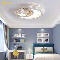 Творческая звезда half moon светодиод потолочный светильник с дистанционным управлением светильник для детской комнаты лампы блестящие lampara