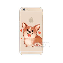 Sexy Cartoon Dog Transparent Plastic Phone Cover For iPhone 7Plus