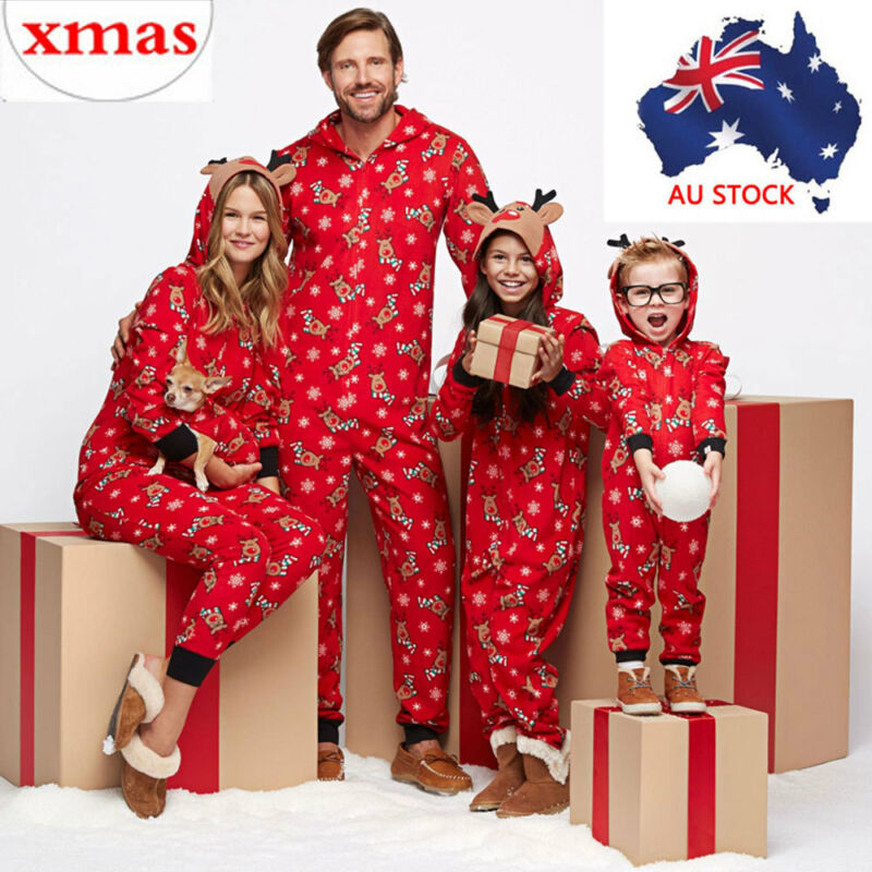 UK Family Matching Adult Kid Christmas Pyjamas Xmas Nightwear Pajamas PJs Sets