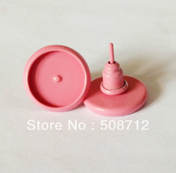 Free shipping!!! 300sets /lot 10mm Pad Pink Earrings Stud , Blanks Base Tray Bezel Cameo Setting Post Bullet Stopper Back