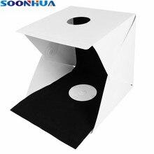 SOONHUA Portable Folding Lightbox Photography Photo Studio Case Softbox 20 Leds Lighting Kit Light Box Photo Backdrop Background