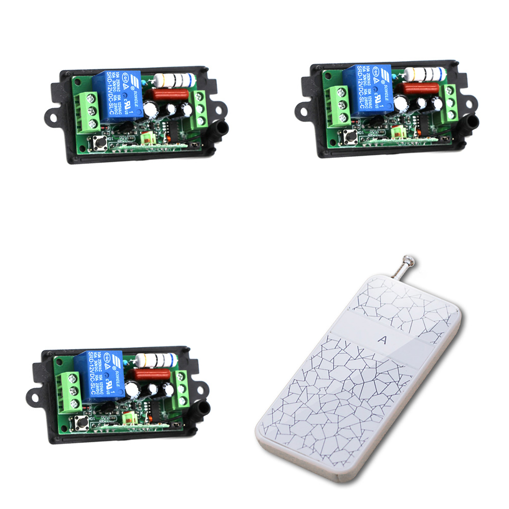 New Design Wireless Remote Control Light Switch Radio 10V 220V 1 Channel Receiver Module + White Transmitter High Quality 220v 1ch radio wireless remote control switch 8 receiver