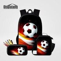 cabb69508e9be3 Dispalang 3 PCS Set Backpack Lunch Box Pencil Case For Students 3D  Footballs Basketballs School Bags. Dispalang 3 PCS Set Caixa Mochila ...
