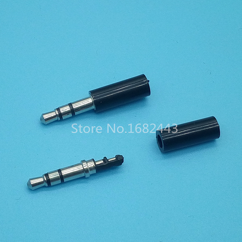 цена на 20pcs Black 3.5mm Stereo Headset Plug Jack 3 pole 3.5 Audio Plugs Socket Adaptor Connector for Earphone