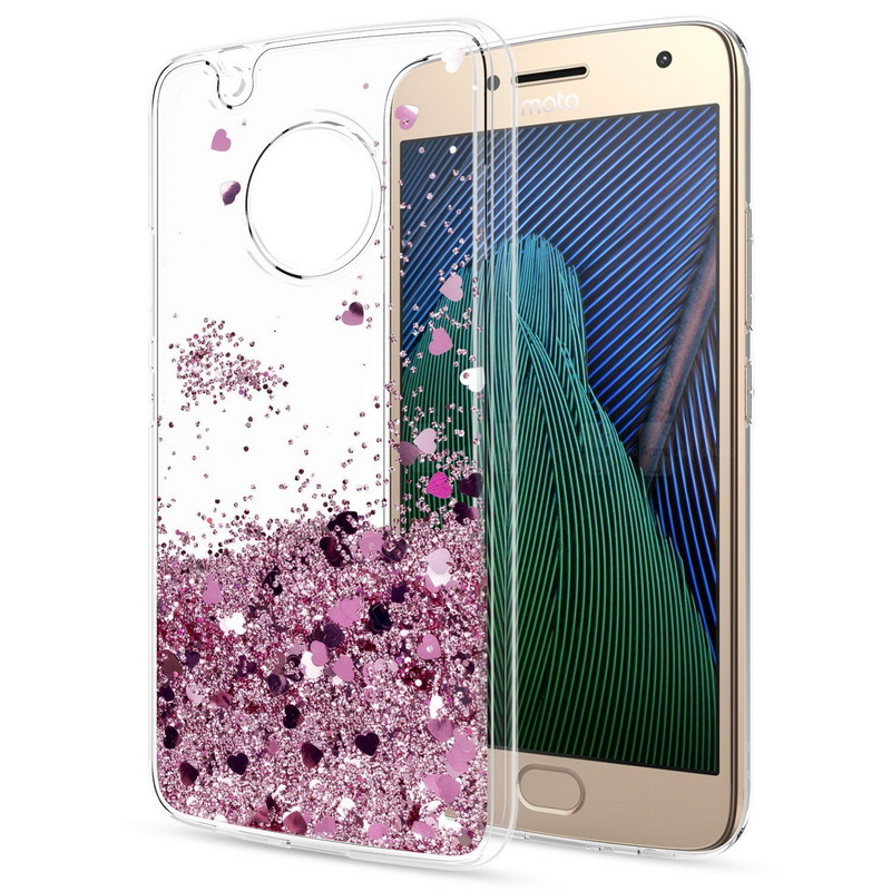 Clear Glitter Case For Motorola Moto G4 G5 Plus Z2 G4 G6 Play