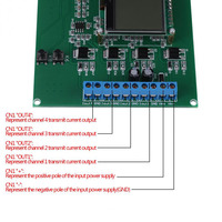 1 шт. 4-20mA 4 канала генератор токового сигнала зарядная Модульная плата цифрового источника передатчик 12864 ЖК-дисплей генератор токового сигн...
