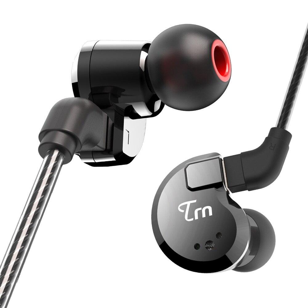 TRN V80 2DD + 2BA Hybride Dans L'oreille Écouteurs HIFI DJ Moniteur de Course Sport Écouteurs Boules Quies Casque Avec 2PIN Amovible câble