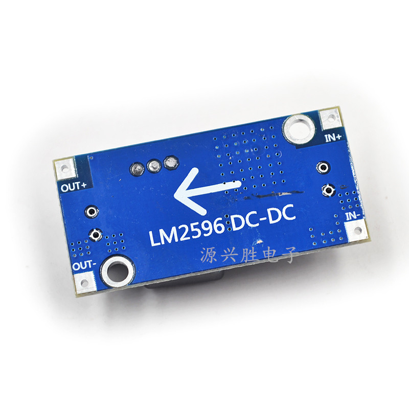 1pcs/lot DC - DC step-down module LM2596 module 3A adjustable voltage regulator <font><b>12</b></font> v to <font><b>5</b></font> v In Stock image