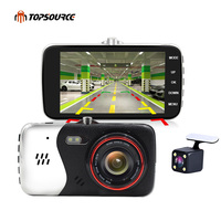 TOPSOURCE 4 Car Dvr Camera Dual Lens HD 1080P JL5201AMelis rear view camera Automobile DVRs Video Recorder Registrator dashcam