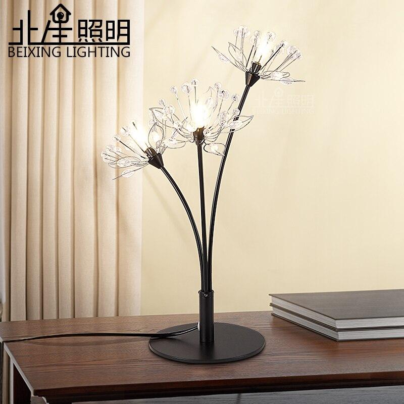Moderne créatif LED cristal lampe de table K9 cristal salle à manger salon couloir cristal lumière 220 V/110 V E14