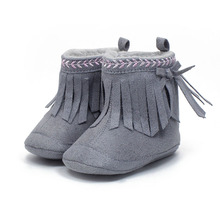 0-1 Years Newborn Baby Shoes Unique Tassel Style Design Boots Warm Winter New Hot Sale Toddler Soft Girl