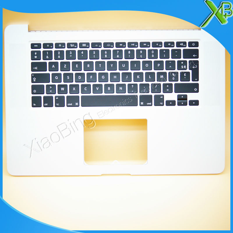 New TopCase with AZERTY FR French Keyboard for MacBook Pro Retina 15.4 A1398 2013-2014 years original new laptop a1708 azerty layout fr keyboards for macbook retina pro 13 inch a1708 french keyboard 2016 year replacement