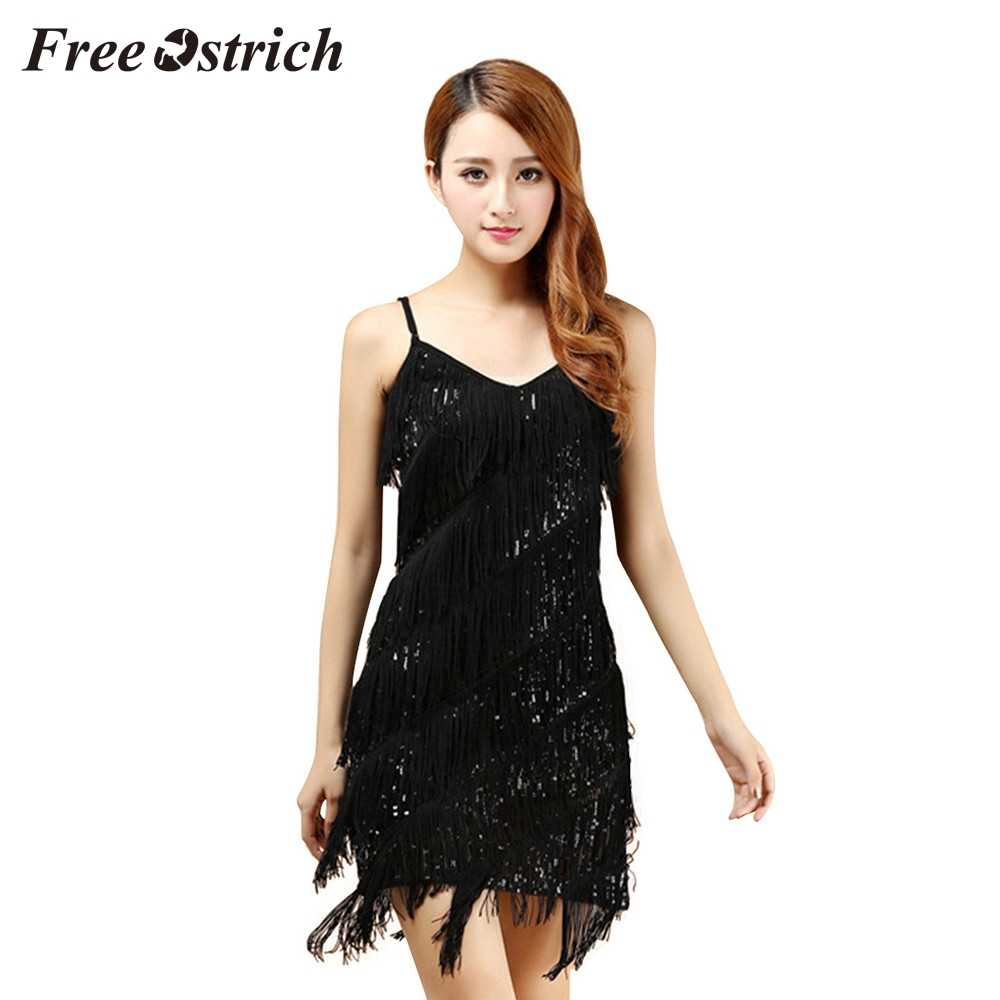 7cffc45f2a1e Free Ostrich 2019 Vestido De Festa Flapper Fringe 1920s Gold Vintage Great  Gatsby Sequin Party Dress