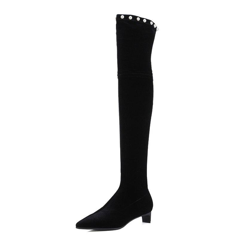 Donne Inverno String Scarpe Delle S Tacchi Enmayer Causale Black Bwx5qd4w