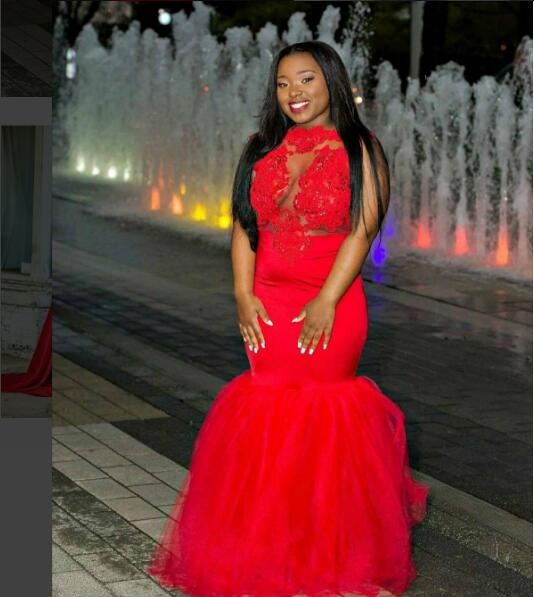 7606ddb2dcf 2017 Sexy Plus Size Prom Dress for Black Women Party Dress Mermaid Red  Appliques New Arrival Cheap Long Prom Dresses Party Dress