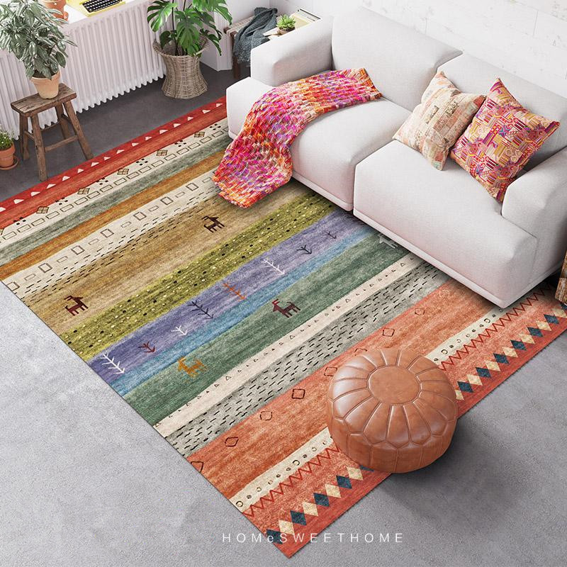 Indian Style Carpets For Living Room Nordic Morocco Carpet Bedroom Sofa Coffee Table Rug Study Room Floor Mat Dining Room Rugs
