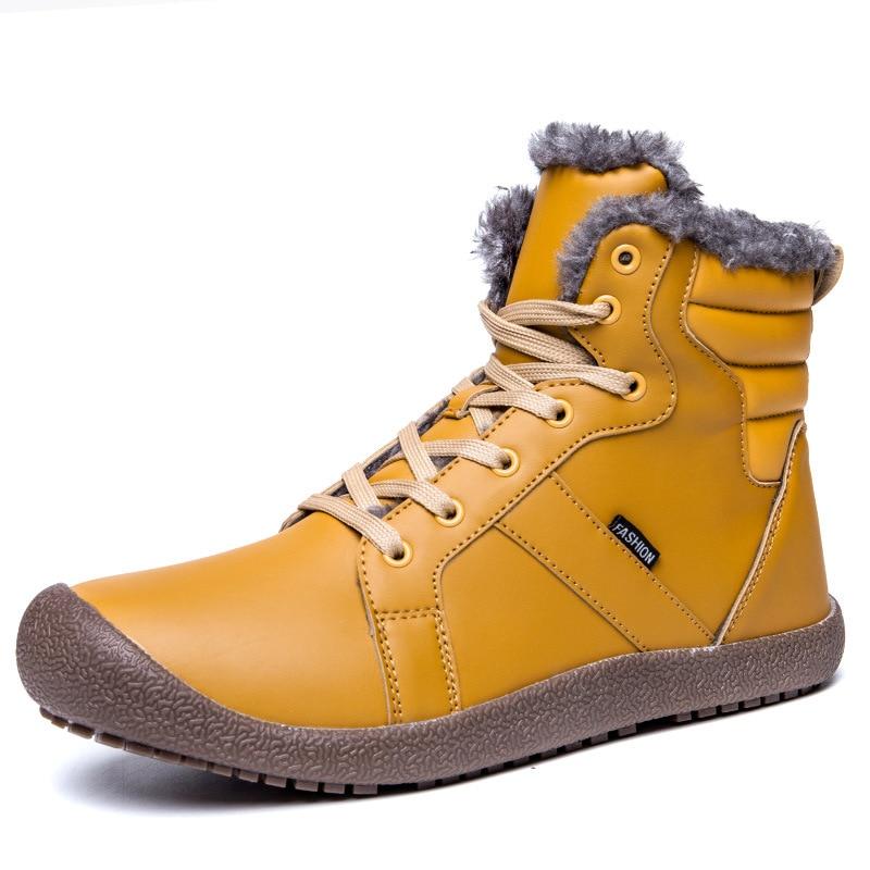 2019 nouveaux hommes bottes d'hiver hommes bottes de neige neige bottines imperméables fourrure chaude bottes tactiques chaussures de Ski chaussures Chaussure Homme