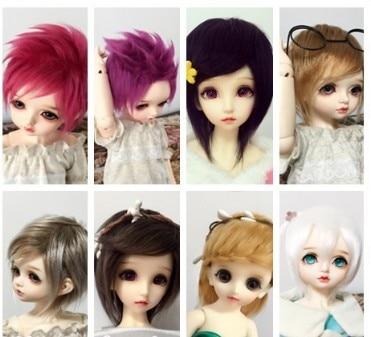 97# Fashion Cute Multi-color Short Wig 1//4 MSD DOD AOD LUTS BJD Dollfie PF