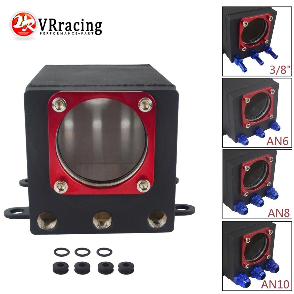 VR-60 millimetri Esterno 044 pompa del carburante serbatoio da corsa Nero In Alluminio Billet catch Olio Può Singolo Carburante Surge Serbatoio VR-TK93